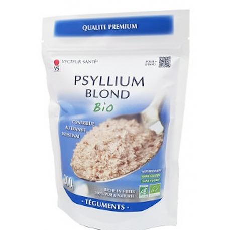 Ispaghul psyllium blond 200gr Vecteur Santé effet fibres solubles Bio sante senior