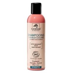 Shampoing cheveux colorés sans sulfate 200 ml Naturado reflets cheveux colorés Bio sante senior