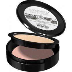 Fond de teint compact 2en1 Ivoire 01 10 gr Lavera maquillage minéral du teint bio santé sénior