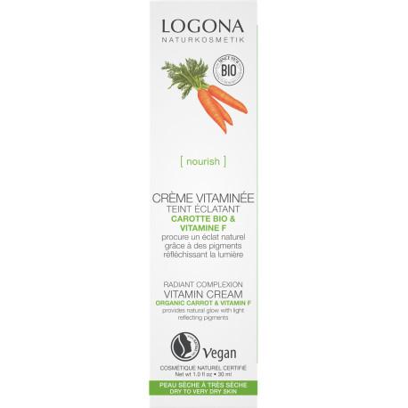 Crème vitaminée embellisseur teint carotte bio 30ml Logona