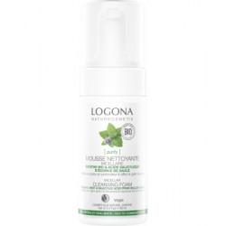 Mousse nettoyante menthe bio / acide salicylique  100 ml Logona