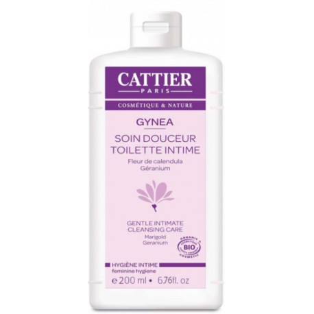 Soin douceur Gynéa Fleur de Calendula Géranium 200 ml Cattier