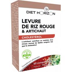 Levure de Riz rouge 60 comprimés Diet Horizon monacoline K bio santé sénior