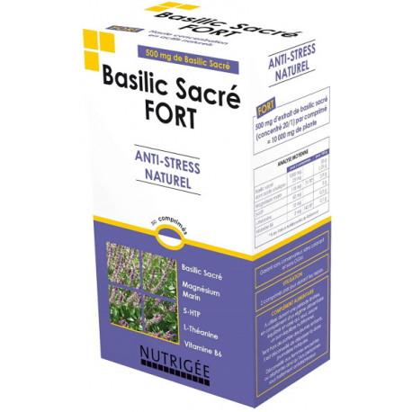 Basilic Sacré fort Anti stress naturel 30 comprimés Nutrigée anti nervosité fatigue Bio santé sénior
