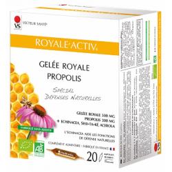 Royale Activ 20 ampoules de 10ml Vecteur Santé échinacée gelée royale shiitaké propolis Bio santé sénior