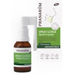 Spray Gorge Aromaforce 15ml Pranarom huiles essentielles antiseptiques Bio santé sénior