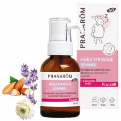 Huile de massage Sommeil bio PRANABB 30 ml Pranarôm bras de morphée plénitude de bébé Bio santé sénior