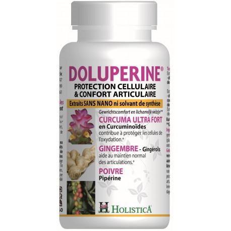 Dolupérine 60 gélules Holistica - Curcuma - Pipérine - Gingembre confort articulaire Bio santé sénior