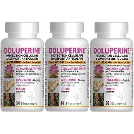 Dolupérine Holistica Lot de 3 boîtes de 60 gélules confort articulaire Bio santé sénior