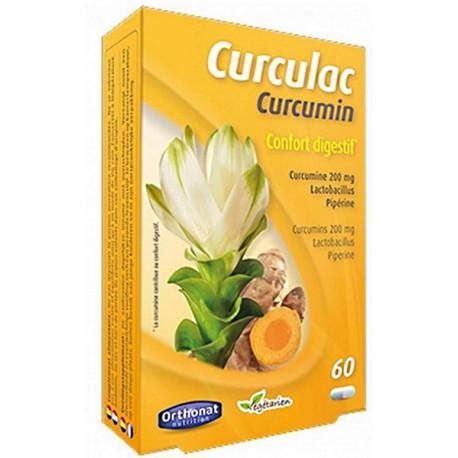 Curculac Curcumin Confort Digestif 60 gélules Orthonat Nutrition colon inflammation lactobacillus Bio santé sénior