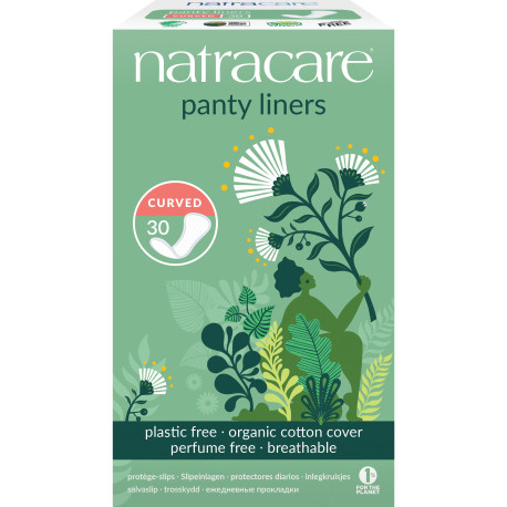 30 protège-slips naturels incurvés Natracare