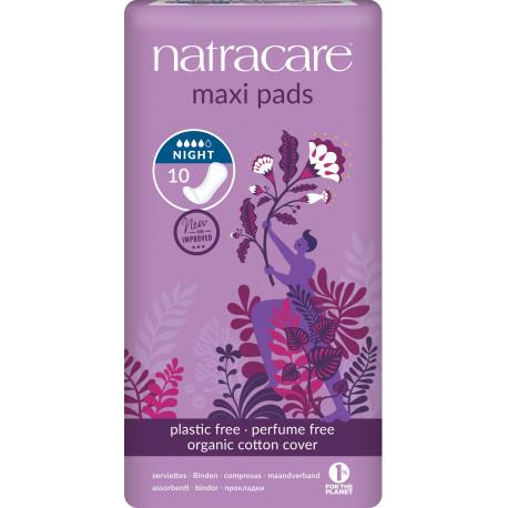 10 serviettes nuit Maxi Pads Natracare