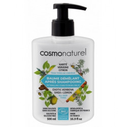 Baume démêlant tous cheveux Karité Verveine Citron 500 ml Cosmo Naturel - après-shampooing bio