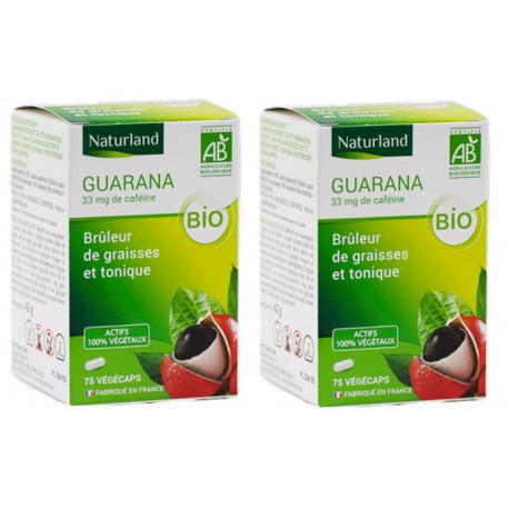 Guarana bio - Promo de 2 boîtes de 75 gélules végécaps - Naturland Bio sante senior