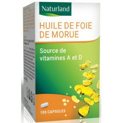 Huile de Foie de Morue - 100 capsules - Naturland