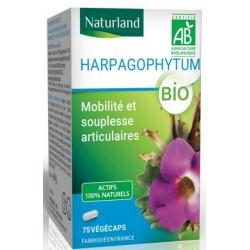 Harpagophytum bio - 75 gélules végécaps - Naturland articulations bio sante senior
