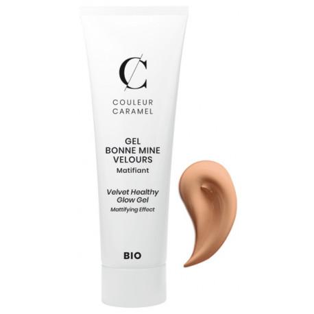 Gel Bonne mine Velours No 62 Doré 30ml Couleur Caramel maquillage minéral du teint Bio sante senior