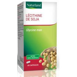 Lécithine de soja - 80 gélules végécaps - Naturland - biosantesenior.fr mémoire concentration vitalité