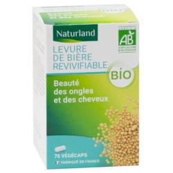 Levure de biere revivifiable bio 75 gelules Naturland