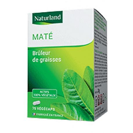 Maté - 75 Gélules Végécaps - Naturland minceur tonus Bio santé sénior