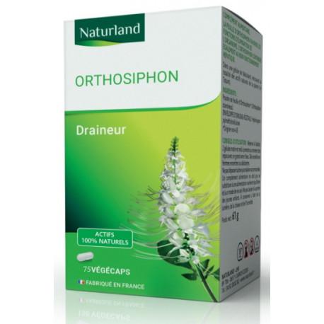 Orthosiphon - 75 Gélules Végécaps - Naturland élimination régime sans sel Bio santé sénior