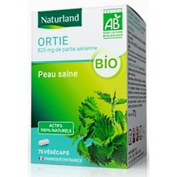 Ortie bio Parie aérienne 75 Gélules Végécaps - Naturand reminéralisation beauté peau ongles cheveux Bio santé sénior