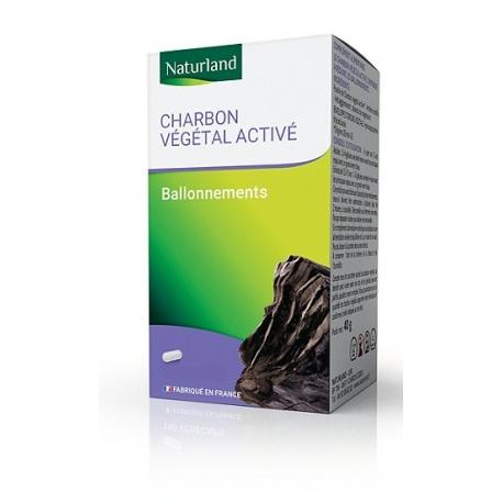 Charbon Végétal activé 150 gélules Naturland desintoxication ballonnements Bio santé sénior