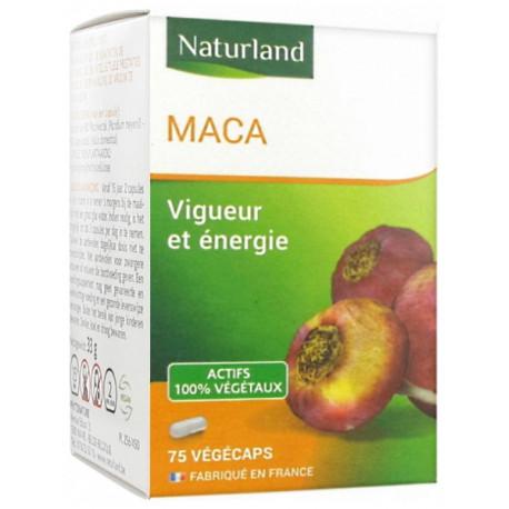 Maca - 75 Gélules - Végécaps - Naturland tonus vigueur Bio sante senior