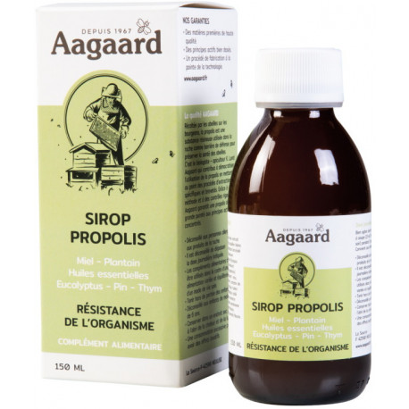 Sirop Propoline Pectoral Apais' Toux  Flacon verre 150ml contient de la Propolis