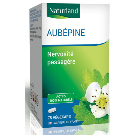 Aubépine - 75 Gélules Végécaps - Naturland stress nervosité Bio santé sénior