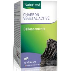 Charbon végétal activé 75 Gélules Végécaps - naturlland, Biosantesenior.fr