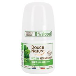Déodorant à billes peaux normales roll on 24H 50ml Douce Nature deodorant anti-transpiration Bio santé sénior