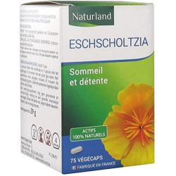 Escholtzia 75 gélules végétales Végécaps Naturland anti stress bras de morphée Bio santé sénior