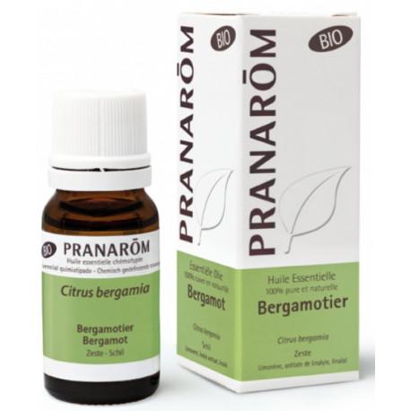 Bergamotier Bio Flacon compte gouttes 10ml Pranarom bergamote sérénité digestion Bio santé sénior