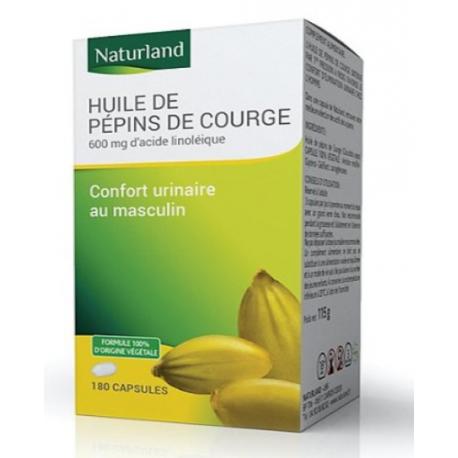 Huile de Pépins de courge bio 90 capsules Naturland