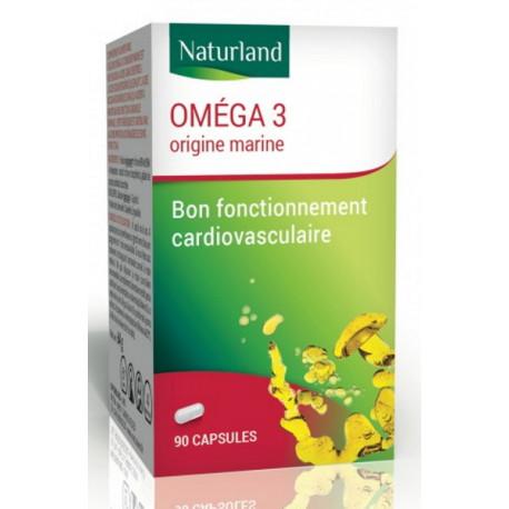 Oméga 3 - Huile de poisson  - 90 capsules - Naturland cardiovasculaire Bio santé sénior