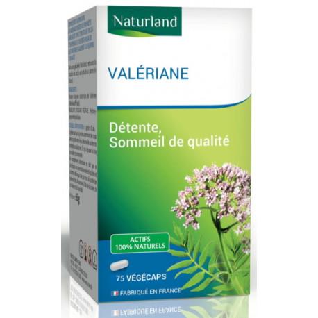 Valériane - 75 Gélules Végécaps - Naturland sommeil nervosité bio santé sénior