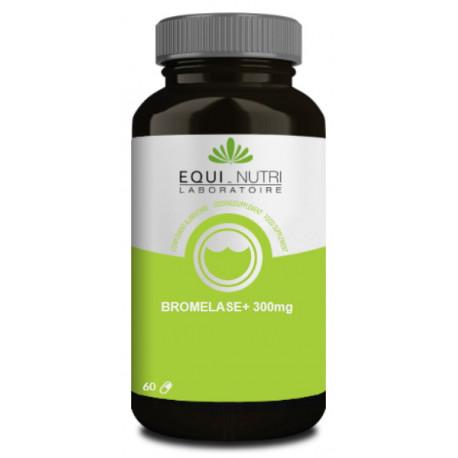 Bromelase 60 gélules végétales 300mg Equi Nutri enzyme bio sante senior