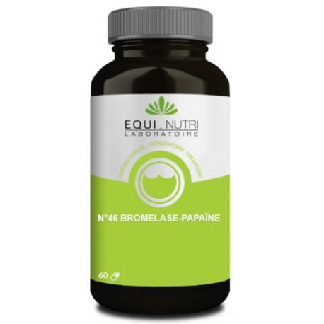 Bromelase Papaïne 60 gélules végétales Equi Nutri bio sante senior enzymes protéolytiques