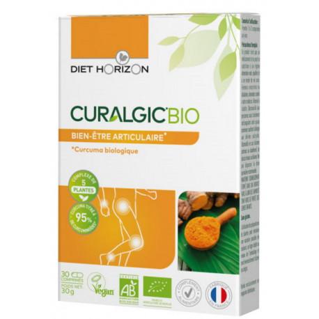 Curalgic bio 30 comprimés Diet Horizon curcuma pipérine gingérol bio santé sénior