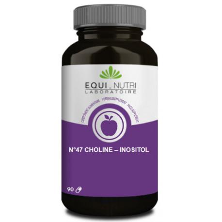 Choline Inositol 90 gélules végétales Equi Nutri bio sante senior lipides hépatiques
