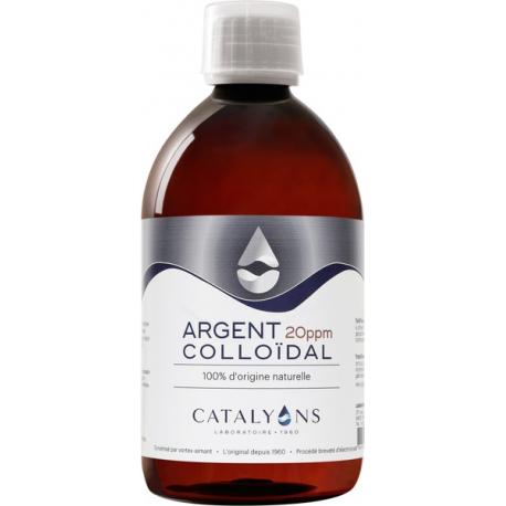 Oligo élément ARGENT colloïdal 20 PPM Catalyons 500 ml
