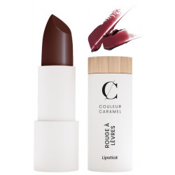 Rouge à lèvres nacré No 240 Baiser violet Couleur caramel teinte sensuelle et dynamique maquillage Bio santé sénior