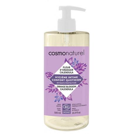 Gel intime Confort quotidien 500 ml Cosmo Naturel acide lactique Bio santé sénior