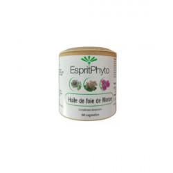 Huile de foie de morue 60 capsules de 500mg EspritPhyto