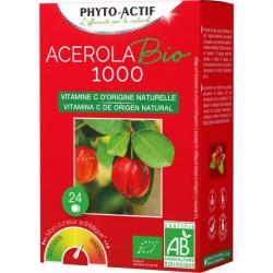 Acérola Bio 1000 AB 24 comprimés Lot de 2 Tubes - Phyto- actif