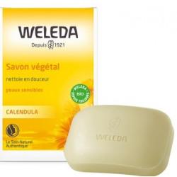 Savon végétal au calendula peau sensible 100 gr Weleda