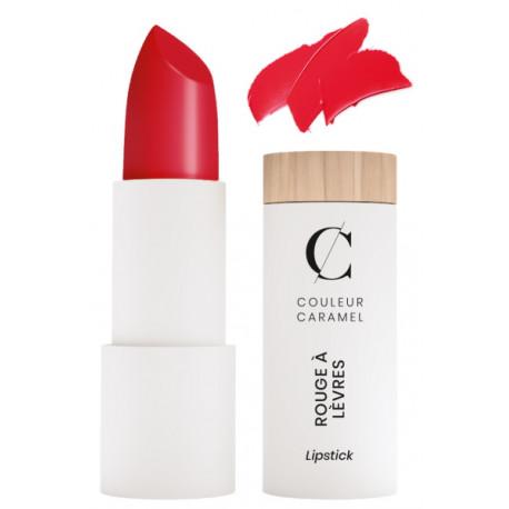 Rouge à lèvres satiné No 280 vrai rouge 3.5gr Couleur Caramel teinte plus claire classique Bio santé sénior