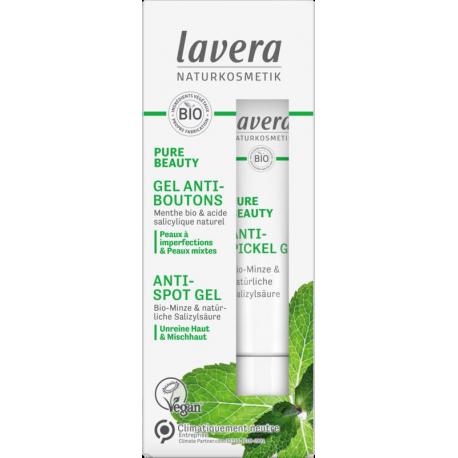PURE BEAUTY Gel Anti Boutons 15ml Lavera peau jeune et acnéique Bio sante senior