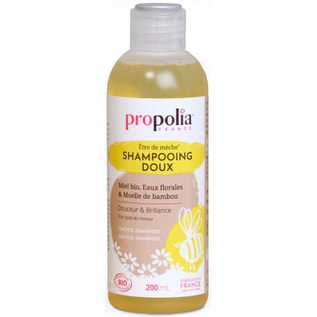 Shampoing Doux Bio être de mèche Miel Bambou 200 ml Propolia cheveux fragiles et ternes Bio sante senior
